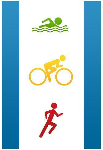 Triathlon Sports Poster Print Poster
