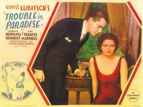 Trouble in Paradise, 1932 Reproduction d'art