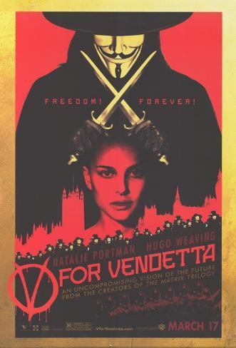 V pour Vendetta Affiche originale