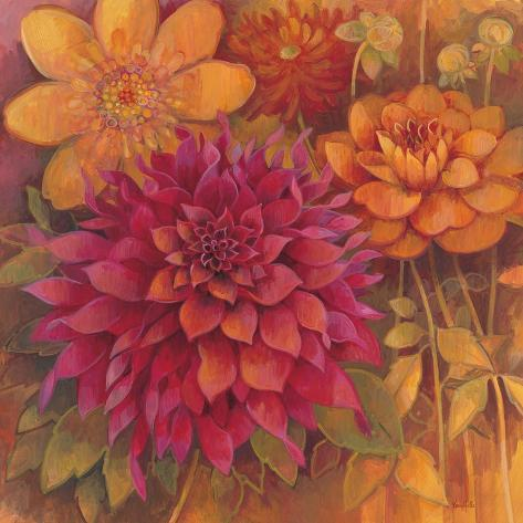 Autumn Dahlias 1 Reproduction d'art
