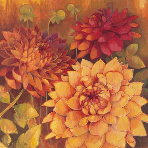 Autumn Dahlias 2 Reproduction giclée Premium