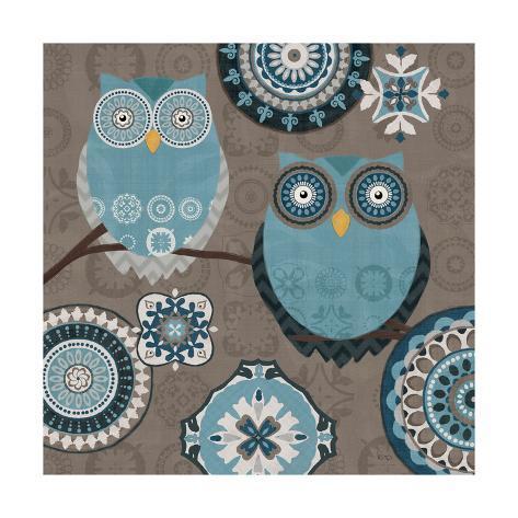 Moroccan Kasbah Blue Owl II Reproduction d'art
