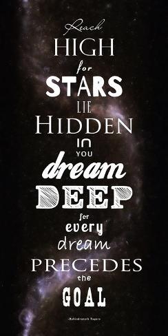 Reach High for Stars Reproduction d'art