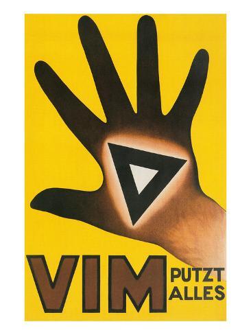 Vim Putzt Alles Poster Reproduction giclée Premium