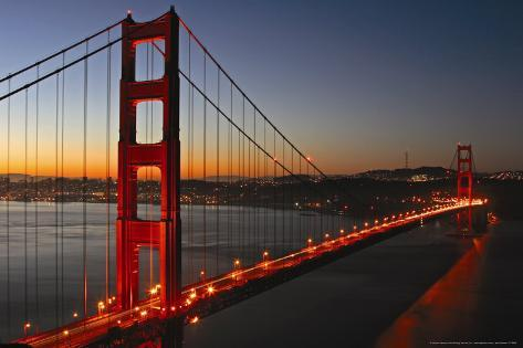 pont du golden gate san francisco affiches par vincent james sur. Black Bedroom Furniture Sets. Home Design Ideas