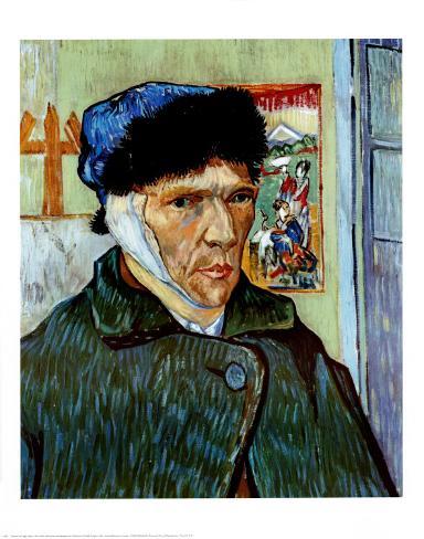 Autoportrait l 39 oreille coup e posters par vincent van gogh sur - L oreille coupee van gogh ...