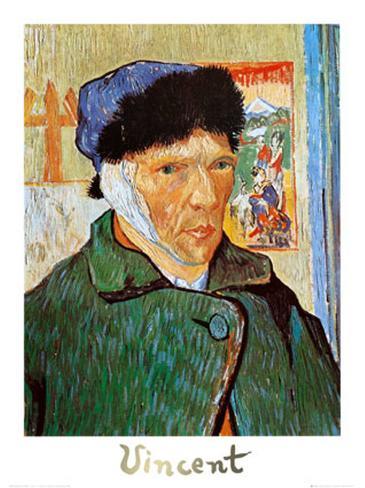 Autoportrait l 39 oreille coup e affiche par vincent van gogh sur - L oreille coupee van gogh ...