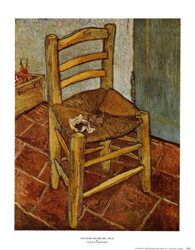la chaise la pipe posters par vincent van gogh sur. Black Bedroom Furniture Sets. Home Design Ideas