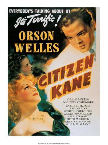 Vintage Movie Poster - Orson Welles in Citizen Kane Reproduction d'art