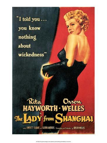 Vintage Movie Poster - The Lady from Shanghai Reproduction d'art