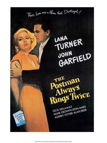 Vintage Movie Poster - The Postman Always Rings Twice Reproduction d'art