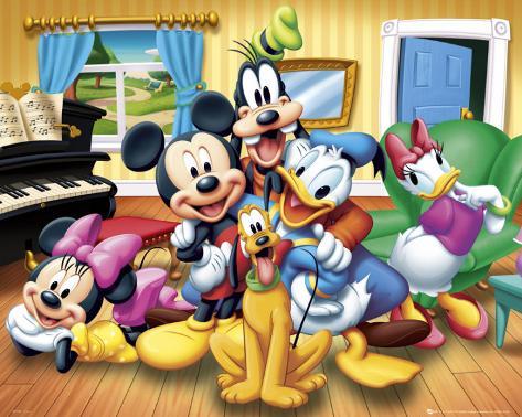 Walt disney mickey et ses amis affiche sur - Amis de mickey ...