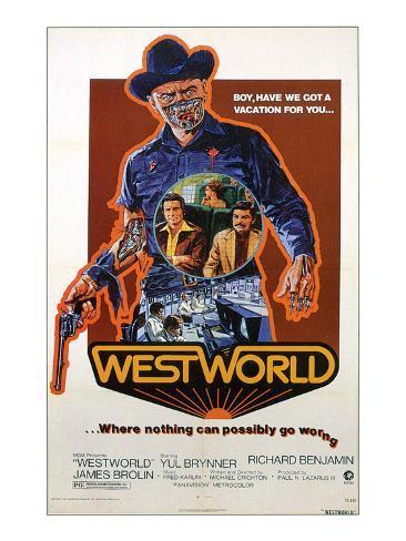 Westworld, Yul Brynner, James Brolin, Richard Benjamin, 1973 Photographie