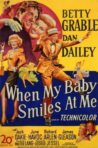 When My Baby Smiles at Me Affiche originale