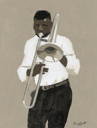Trombone Player Toile tendue sur châssis