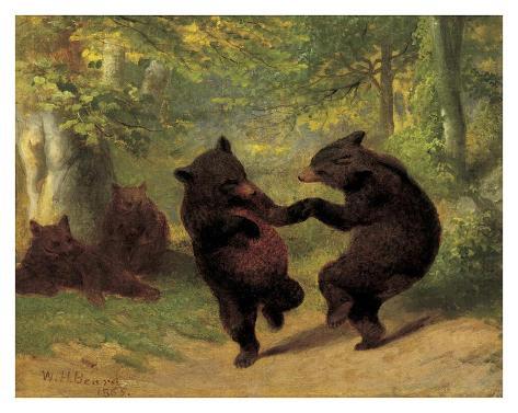 Dancing Bears Reproduction d'art