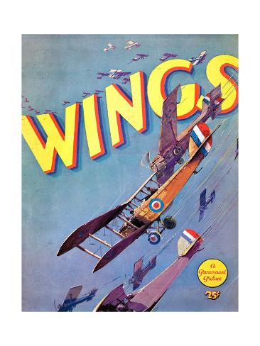 Wings, 1927 Reproduction procédé giclée