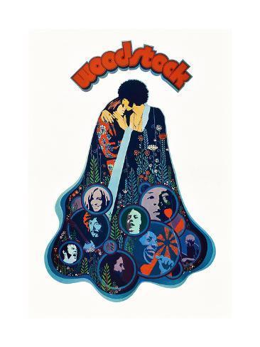 Woodstock - Festival de musique Reproduction d'art