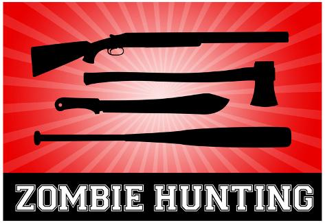 Zombie Hunting Red Sports Poster Print Poster