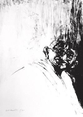 Portrait de Gandhi by Ahmed Shahabuddin