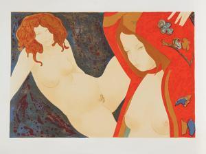 Two Nudes by Alain Bonnefoit