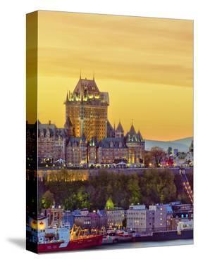 Canada, Quebec, Quebec City, Vieux Quebec or Old Quebec across Saint Lawrence River or Fleuve Saint by Alan Copson