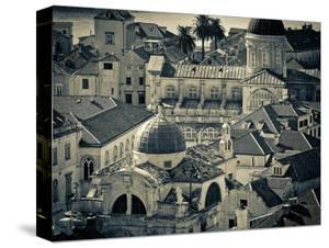 Croatia, Dalmatia, Dubrovnik, Old Town from Old Town Walls, Church of St. Blaise by Alan Copson