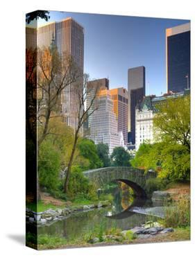 USA, New York, Manhattan, Central Park, the Pond by Alan Copson