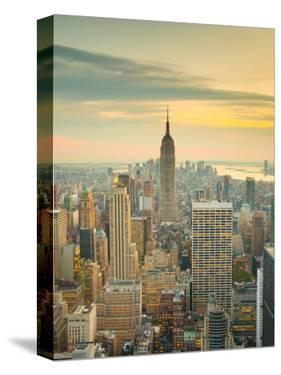 USA, New York, Manhattan, Midtown from Top of the Rock at the Rockefeller Center by Alan Copson