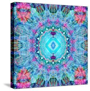 A Blue Water Mandala from Flower Photographs by Alaya Gadeh