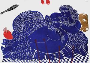 Gudrun Et Les Fleurs by Alexandre Fassianos