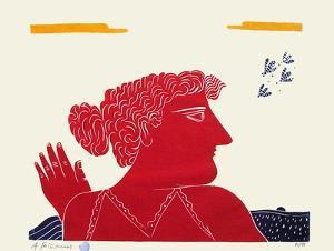 Les Abeilles D'Un Été - Rouge by Alexandre Fassianos