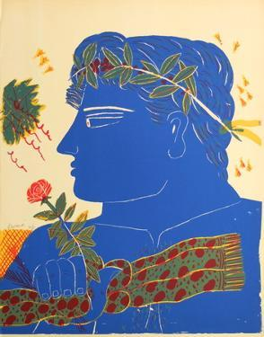 Profil Bleu a la Rose by Alexandre Fassianos