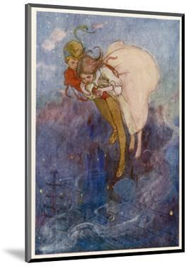 Peter Pan and Wendy Float Away Over the City by Alice B. Woodward