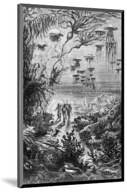 """Illustration from """"20,000 Leagues under the Sea"""" by Alphonse Marie de Neuville"""
