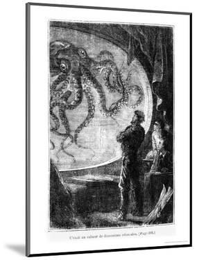 """The Nautilus Passengers, Illustration from """"20,000 Leagues under the Sea"""" by Alphonse Marie de Neuville"""