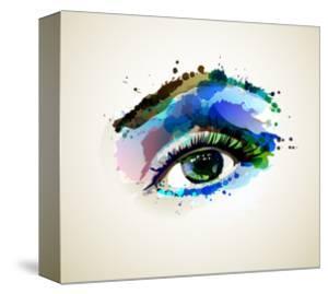Beautiful Fashion Woman Eye Forming By Blots by artant
