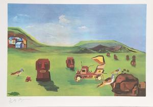Easter Island II by Aymon de Roussy de Sales