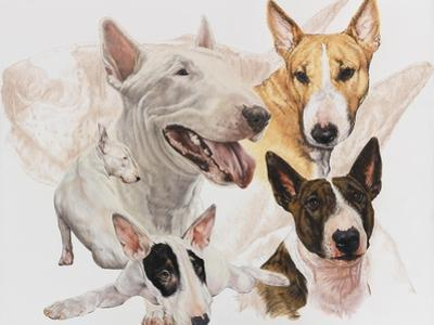 Bull Terrier Posters And Prints At Artcom - Bull terrier art