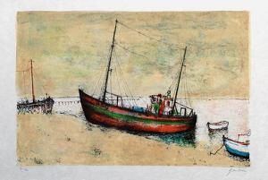 Bâteaux de pêche à Arcachon by Bernard Gantner