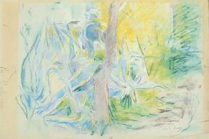 Aloes at Villa Ratti, 1889 (Pastel on Paper) by Berthe Morisot