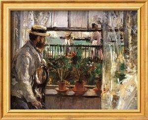 Eugene Manet by Berthe Morisot