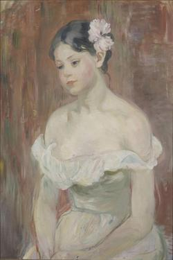 Girl with Decollete (The Flower in Hai) by Berthe Morisot