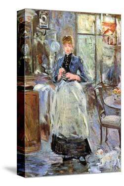 In Dining Room by Berthe Morisot