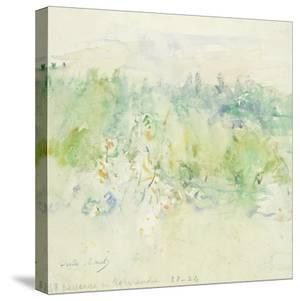 Normandy Landscape, 1880 (W/C on Paper) by Berthe Morisot