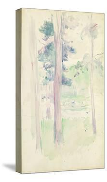 Pines by the Lake, 1893 (W/C on Paper) by Berthe Morisot