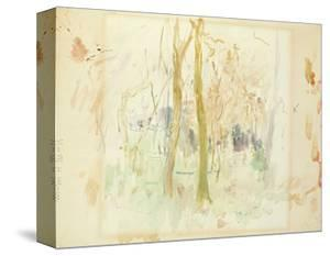 Red Trees, 1885 (W/C on Paper) by Berthe Morisot