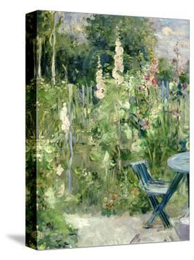 Roses Tremieres (Hollyhocks), 1884 by Berthe Morisot