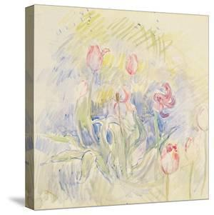 Tulips, 1890 (W/C on Paper) by Berthe Morisot