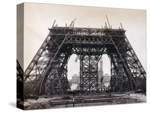 Eiffel Tower During Construction by Bettmann